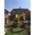 Digger in the garden