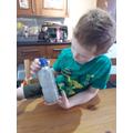Homemade glitter bottle