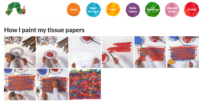 Step 1: paint some tissues in various colours!