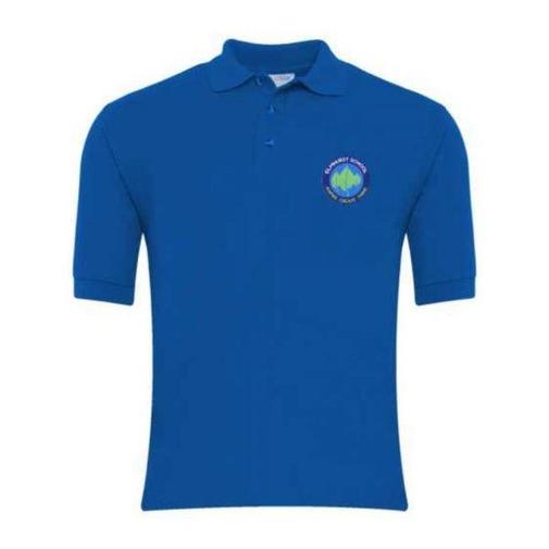 Elmhurst School Logo Polo Tshirt