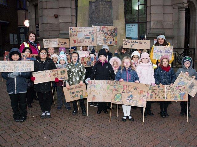 Elmhurst School Protest