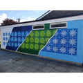 Elmhurst School Aylesbury  Wall painted by local artist Teakster