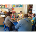 Parents reading on World Book Day