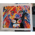 Oliver was inspired by our work on African savannas and painted a picture of a lion
