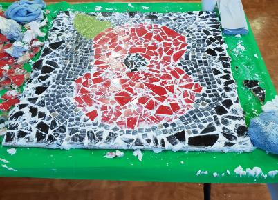 Mosaic art created on WW1 event