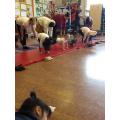 Drama poses through yoga.