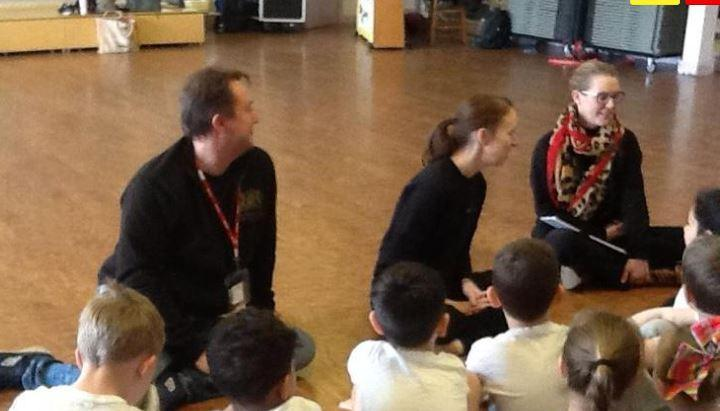 Birmingham Royal Ballet came for a workshop and auditions for KS1.