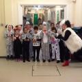 Cruella De Vil and her Dalmatians