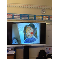 We showed our work on the visualiser.