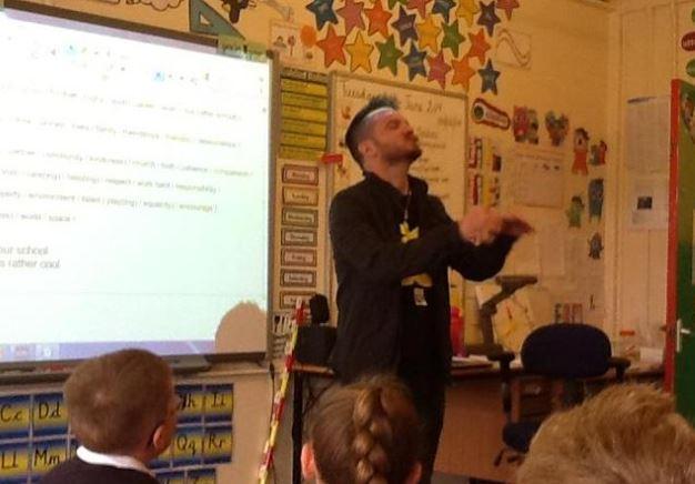 Birmingham Poet Laureate Matt Windle worked with Yr3 before a poetry slam.