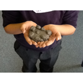We used clay to create the London Eye.