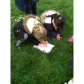 Working together to find different flowers