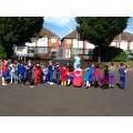 We had lots of fun making superhero poses!