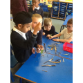 Working together to create woodland art