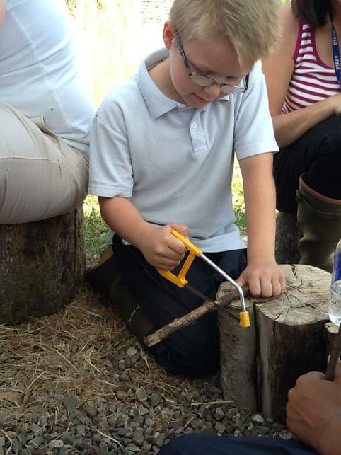 Learning to use tools safely.