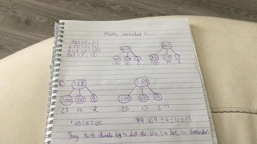 Dividing using partitioning