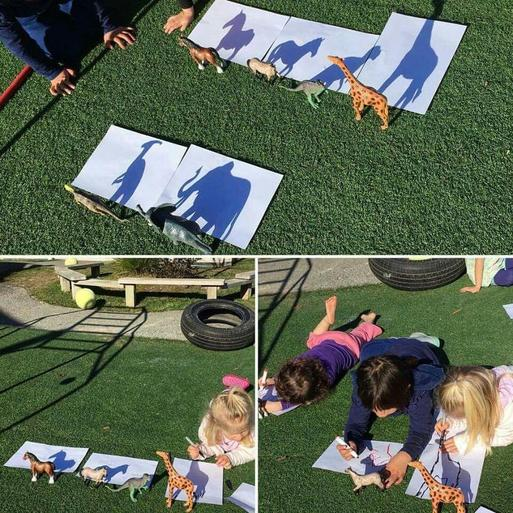 Why not try some shadow art while the sun is shining for us?