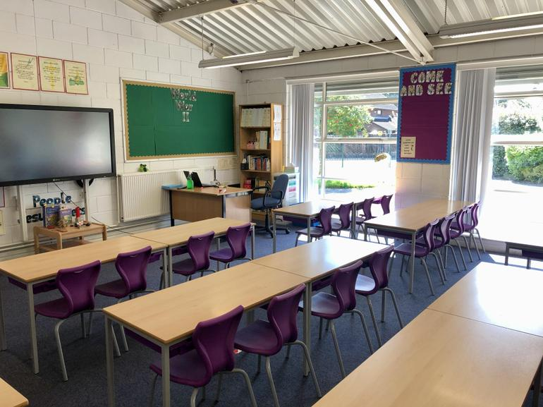 All desks will face the front of the classroom.