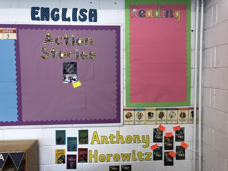 Our English and Reading displays.