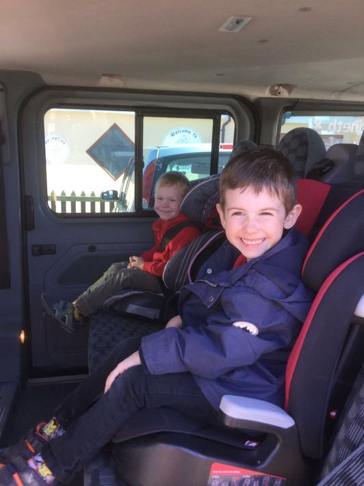 All aboard the minibus