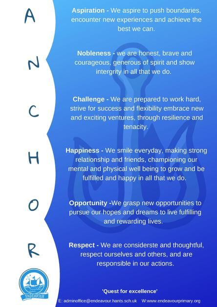 Endeavour Anchor Values