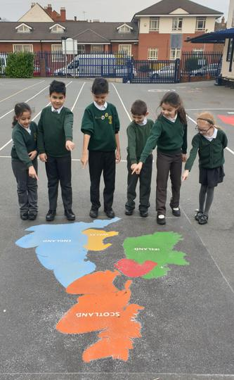 Map of the British Isles to help us in our knowledge of the world!