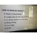 Instructions to draw a monster.