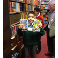 Yr 5 & Yr 6 Choosing books from Peter's Bookstore