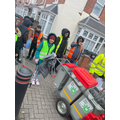 Great job Khadijah. It looks like you have teamed up with the local street recycling team!