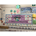 Reception 'Eyes of the World' display