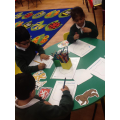We created our own shields!