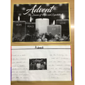 Isaak created a lovely display piece about Advent