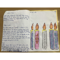 Elizabeth worked hard at home to create a booklet all about Advent