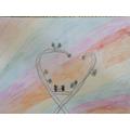 Super rainbow bird artwork Arwa!