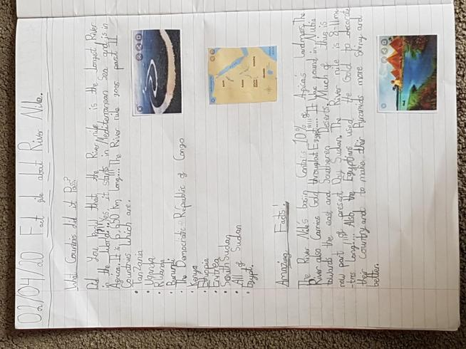 Awais' amazing fact file on the River Nile!