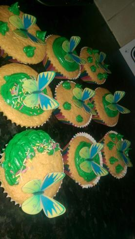 Eli has made some tasty butterfly cakes, yummy!