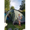 I went camping in my garden