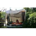 I made a den on my trampoline :)