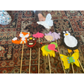 Here are my homemade felt puppets