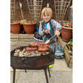 I helped my Grandad with the BBQ.