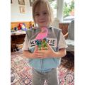 A flamingo for my gnome family
