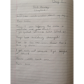 Writing a letter about my day