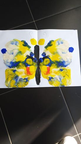 Mrs Howson has painted a symmetrical butterfly!
