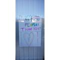 Emma's  wonderful thank you poster