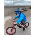 I rode by bike on the promenade