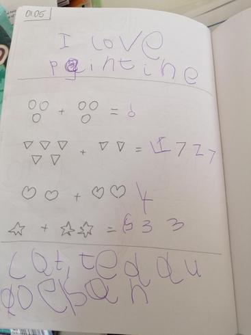 Look at Helena's super maths work.