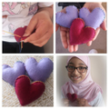 Skills Challenge- 'Kindness'.Beautiful felt hearts