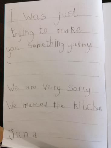 Jana has written a fantastic message!