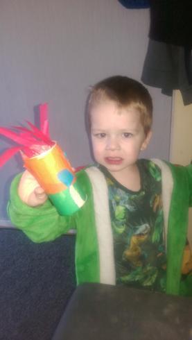 Eli has made a rocket!