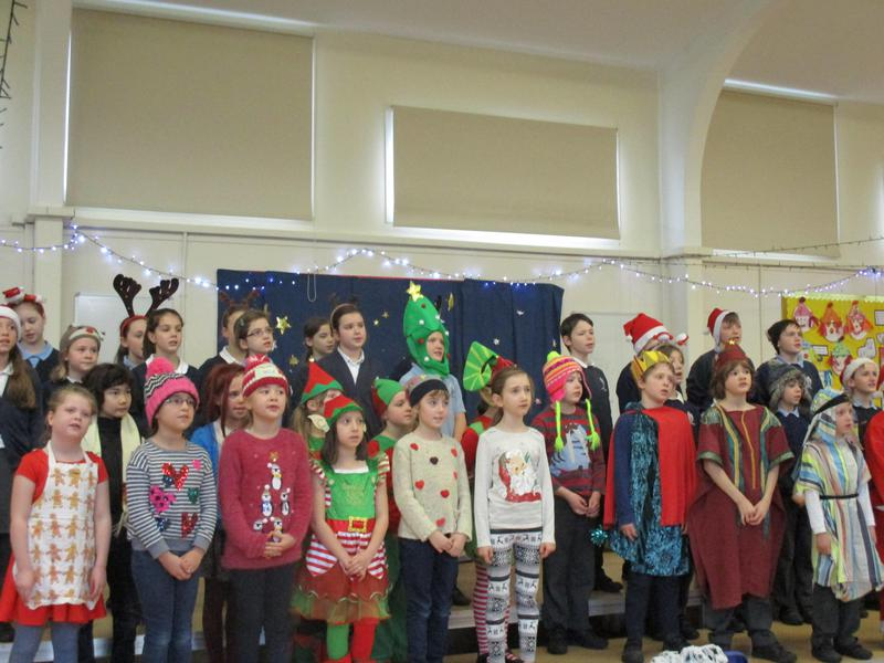 Choir performing at Christmas